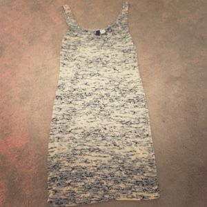 H&M crackled pattern tank dress/ tunic airy